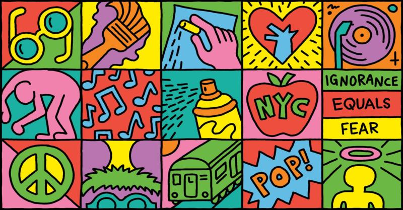 Keith Haring 60's Birthday